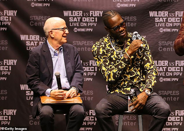 Deontay Wilder's (R) co-manager Shelly Finkel (L) has criticised promoter Eddie Hearn