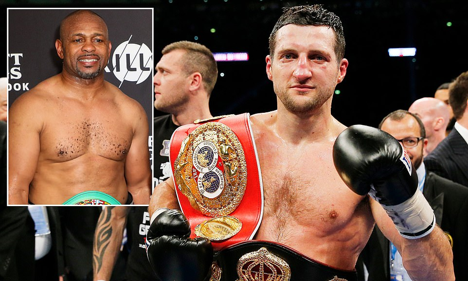 CARL FROCH CLOSE TO AGREEING COMEBACK: Former super-middleweight world champion Carl Froch is set to make a sensational return to the ring to take on legend Roy Jones Jr. Froch, 43, has been in talks with the 52-year-old American, who held world titles in four different weight divisions, over an exhibition bout. And Nottinghamshire Live reports negotiations could be completed this week.