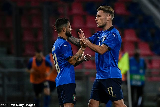 Immobile will play alongside his childhood friend Lorenzo Insigne as part of the attack