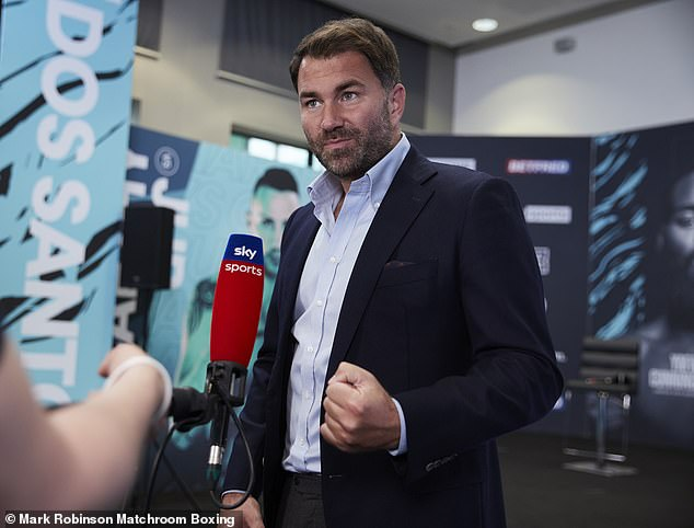 Promoter Eddie Hearn confirmed earlier this week Joshua would be signing a deal this week