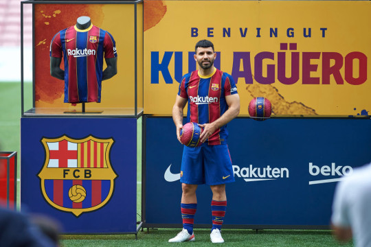 Manchester City hero Aguero was unveiled by Barcelona on Monday evening