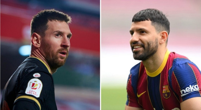 Sergio Aguero is excited to play with Lionel Messi at Barcelona