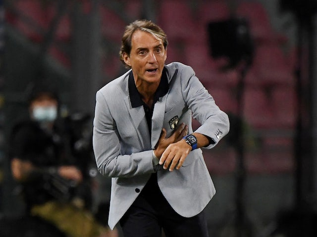 Italy head coach Roberto Mancini pictured on June 4, 2021